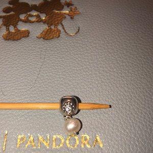 Authentic Pandora Pearl Clip